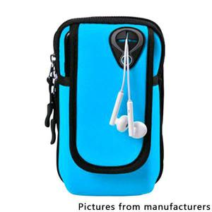 Running mobile arm package men and women fitness equipment outdoor handbag (Middle) - Sky blue
