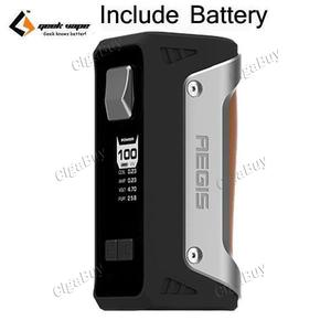 GeekVape Aegis 100W  with 26650 - Silver Brown