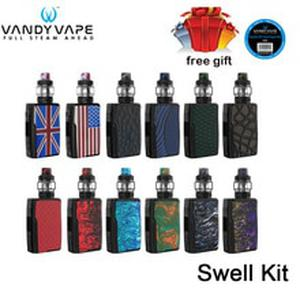 Original  Swell Kit 188W  with Swell Tank  adopts 0.15ohm single meshed coil E Cigarette waterproof PCBA Vape