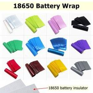100/50/20/10PCS Pack Battery 18650 Battery Wrap Wrapper Case Sticker Sleeve Cover Skin Insulator 18650 PVC Heat Shrink Lithium