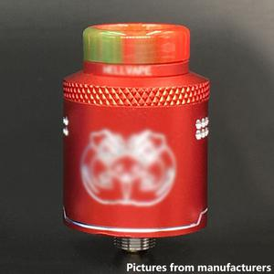 Drop Dead Style 24mm RDA  w/ BF Pin - Red