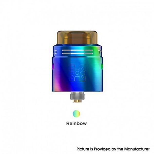 GeekVape  TALO X RDA Rebuildable Dripping Vape Atomizer w/ BF Pin - Stainless Steel, 24mm Diameter - Rainbow