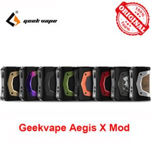 Free Gift! GeekVape Aegis X  New AS 2.0 chipset Power by Dual 18650 batteries for 510 thread atomizer vape vs ageis solo