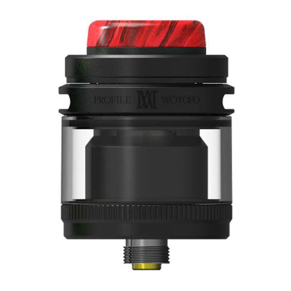 (Presale)    Profile M RTA Rebuildable Tank Vape Atomizer - 3.1ml / 4.0ml, Mesh Coil, SS + Glass, 24.5mm Diameter - Black