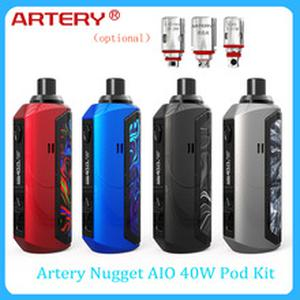 Hot Artery Nugget AIO 40W Pod Kit 1500mAh built-in battery & optional 0.4ohm mesh coil/0.4ohm mesh coil vs Vinci X/ pal 2 pro