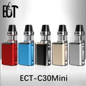 2019 Original E-cigarette box mod  C30 mini battery with Kenjoy Met Atomizer 2ml ect c30mini 30w vaporizer vape mod kit