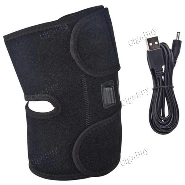 Massager USB Charging Knee Pad Support Heated Keep Warm Soft Brace 3 Gears