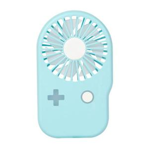 Mini slim game machine fan rechargeable usb student large air volume outdoor portable fan - Blue