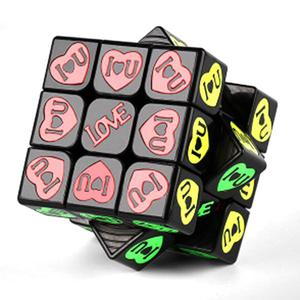 MoYu Black crystal 3x3x3 Smooth cube - Love