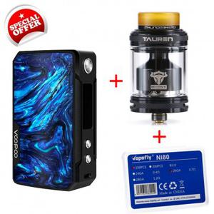 [Special Offer] Drag mini 117W  4400mah & ThunderHead Creations Tauren RTA & 100pcs  NI80 Prebuilt coil-26GA