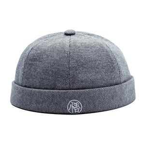 Personality street melon hat retro trend parent-child cap (48cm) - Light grey