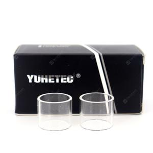 YUHETEC Replacement Glass Tank for Exceed D19 2ml 2pcs