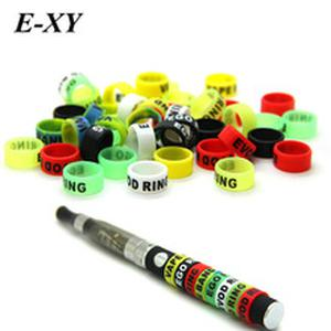 E-XY 30pcs Ecig silicone bands 13mm vape ring for ego series batteries decorative and protection resistance vape bands