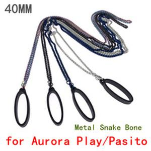 Metal Stainless Steel Snake Bone Chain Vape Lanyard with 40mm Rubber Bands Ring for  Aurora Play Pasito Vapepods Kit
