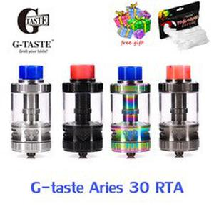 Free gift Vape tank G-taste Aries 30 RTA 10ml/6ml Unique screw AFC system 510 thread Vape Atomzier vs steam crave supreme v2