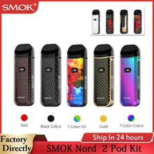 Smok Nord 2 Pod Kit 40W with 1500mAh Battery 4.5mL Cartridge Pod 0.4ohm RPM Mesh Coil Nord DC 0.8ohm MTL Coil E Cigarette