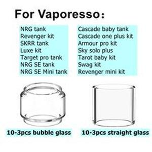 10/3pcs Pack Replacement Pyrex Glass Tube Tank For  NRG Cascade SE Baby Mini Skrr Luxe Target Pro Atomizer Revenger