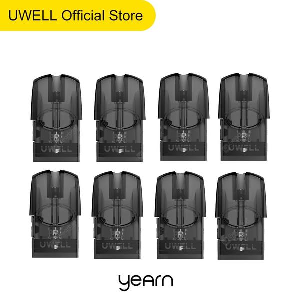 UWELL Yearn Refillable Pod Replacement Cartridge 8PCS 12PCS 1.4ohm Mesh Coil 1.5 ml capacity for E Cigarette Yearn Pod System