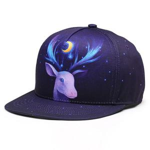 NUZADA Street dance hip hop flat along 3D thermal transfer hip hop cap - Deer