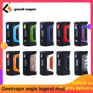 vape kit GeekVape Aegis mod aegis Legend 200W TC Box MOD Powered by Dual 18650 batteries e cigs No Battery for zeus rta blitzen