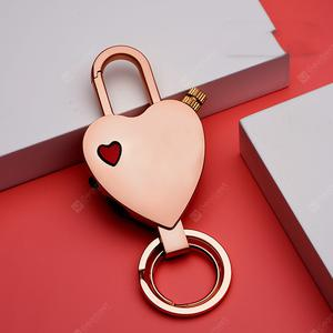 OGIRL Heart-shaped Keychain Lighter Cigarette Lighter Metal Gasoline Kerosene Lighter Accessories Match Lighter Small Gift