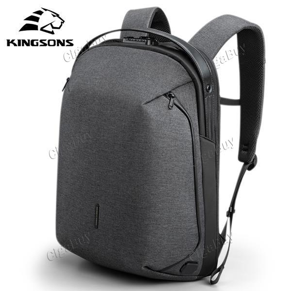 Kingsons Backpack Fit 15inch Laptop USB Multi-layer Space Waterproof Mochila
