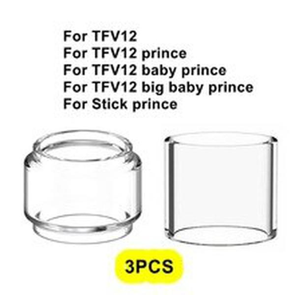 3PCS Pack Replacement Pyrex Glass Tube Tank For Smok TFV12 Big baby Stick prince 8ml tank atomizer Standard Edition