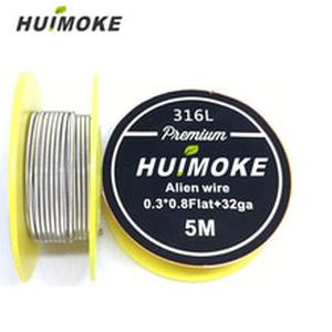 Heating Wire 5m/roll SS 316L Flat Alien A1 Alien NI80AlienClapton Wire for RDA RBA Rebuildable Atomizer Heating Wires Coil Tool