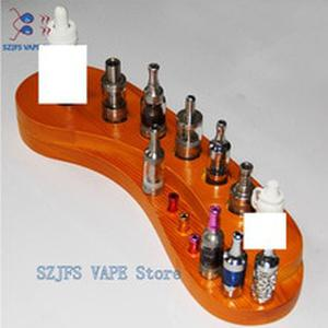 E Cigarette Display Wooden Base Stand Silicone Vape Stand Shelf Tool Display for DIY RTA RDA RDTA Electronic Cigarette Accessory