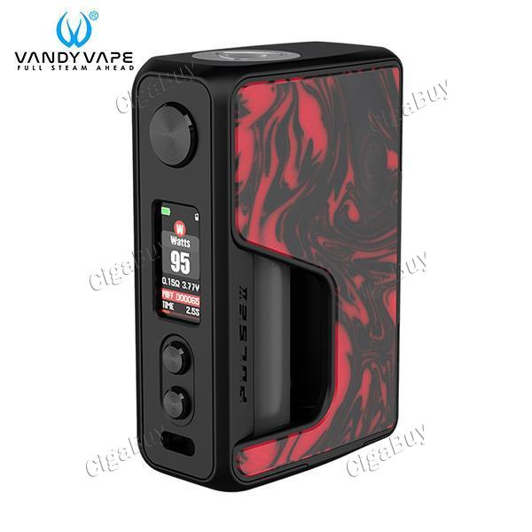 PULSE V2 BF 95W BOX MOD - Flame Red Resin