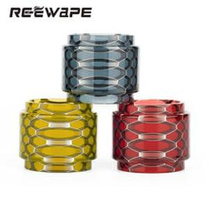 Reewape Visible ejuice capacity Honeycomb Cobra resin drip tip tank tube replacement set for Tf12 prince Crown IV Falcon King