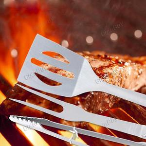 20pcs Strong BBQ Kit BBQ Tools Camp Shovel Cooking Roast Fork Stainless Steel