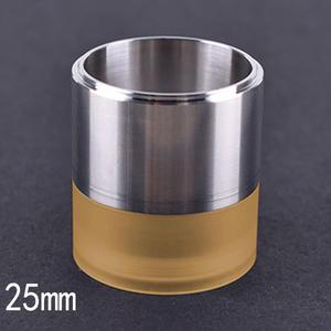 Replacement 316SS + PEI Tank Tube for 25mm TF GTR RTA Atomizer - Yellow Silver