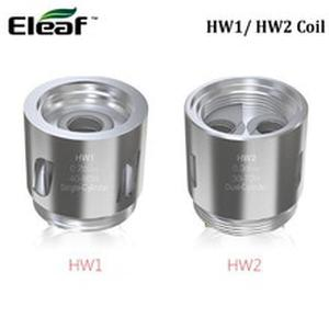 5pcs  HW1 Single Cylinder SS316L 0.2ohm Coil vs HW2 Dual Cylinder Kal 0.3ohm Head for  ELLO Mini/ELLO Mini XL Atomizer