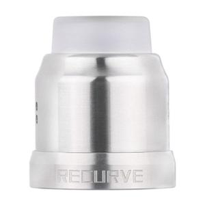 Replacement 22mm Top Cap + Drip Tip + 24mm Decorative Ring for Recurve Atomizer - Silver