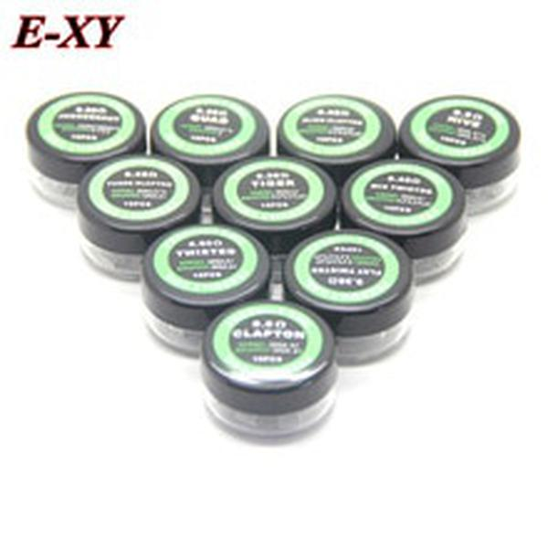 E-XY Flat twisted wire Fused clapton coils Hive premade wrap wires Alien Mix twisted Quad Tiger Heating Resistance rda coil