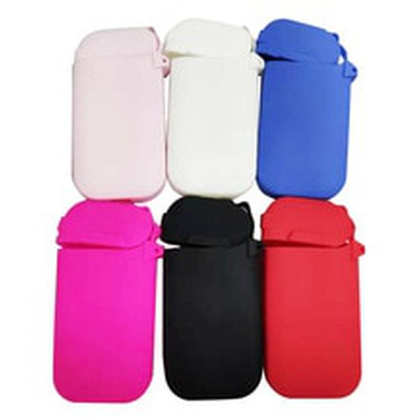 6 Colors Red/Grey/Black/Blue/Clear Silicone Case for IQOS Pocket Charge Anti Scratch Cover Protective Case