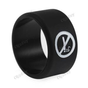 Replacement Silicone Vape Band with No Smoking Design - Black