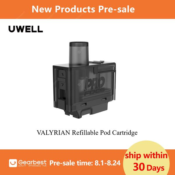 UWELL Latest Pre-sale 1pcs a Pack VALYRIAN Pod Cartridge 1.0 0.6ohm 3ml Capacity Top Filling Systerm for VALYRIAN Pod System Kit
