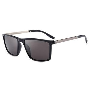 Men's Fashion Classic Polarized Sunglasses - Bright Black Grey