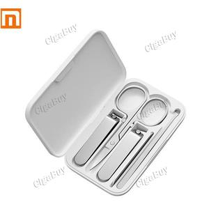 5pcs Xiaomi Mijia Stainless Steel Nail Clippers Set Trimmer Pedicure Care Clip