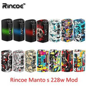Newest Rincoe Manto S Mesh 228W mod fit 6ml Metis Mix Tank powered by dual 18650 batteries quick charging system  vs puma thor