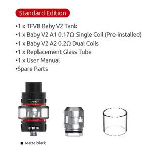 TFV8 Baby V2 Tank 5ml Capacity Atomizer For 510 Vape Mod Vaporizer Electronic Cigarette