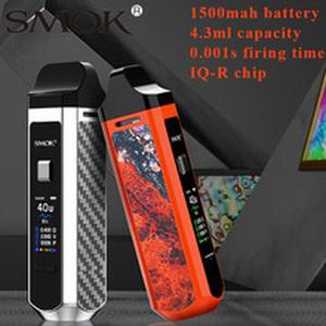Newest Smok RPM40 Pod Kit 40W Vape 1500mAh Battery 4.3ML/4.5ml Pod Cartridge RPM Mesh Coil TFT 0.96 Screen Pod system Vape kit