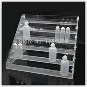 1pc Acrylic e cig display case e cigarette stand shelf holder display rack box for e-liquid needle bottle e-juice bottle