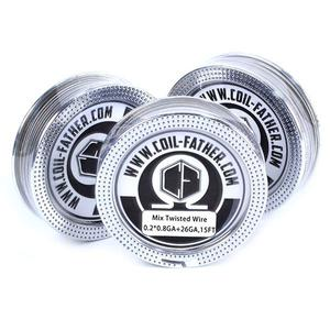 0.2*0.8+26ga 0.45ohm Mix Twisted Wire for RBA Atomizer (15FT) - Silver