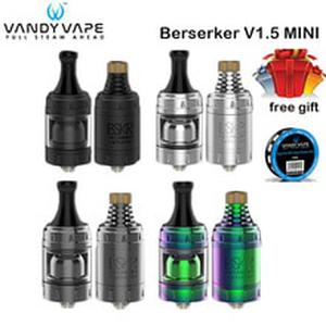 Original  Berserker V1.5 Mini MTL RTA Tank VandyVape BSKR Atomizer Metal Tube 2.5ml for Electronic Cigarettes Vape Mod