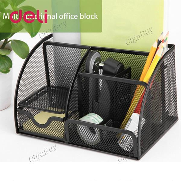 Deli Office Pen Container Small Objects Storage Box Multifunctional Organizer