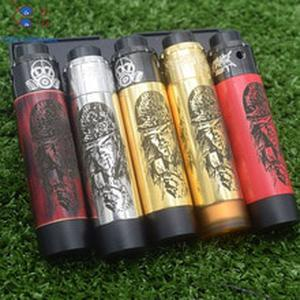 New style thin Slim Piece mod Mechanical mod 18650 battery Vaporizer VAPE with  Apocalypse GEN 25 RDA vs Pharaoh Mech mod kit
