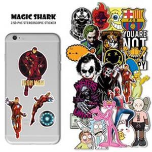 Magic Shark Mette Joker SpongeBob Iron Man Spider Man Sticker Film for IQOS Smok  Vape Pod iPhone iPad Bottle etc
